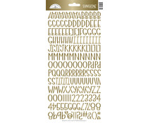 Doodlebug Design Gold Foil Sunshine Stickers (6881)