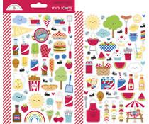 Doodlebug Design Bar-b-cute Mini Icons Stickers (6887)