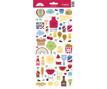 Doodlebug Design Bar-b-cute Icons Stickers (6891)