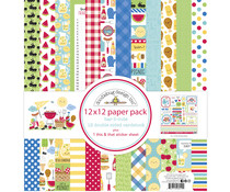 Doodlebug Design Bar-b-cute 12x12 Inch Paper Pack (6912)