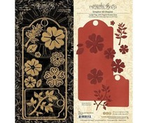 Graphic 45 Large Tag, ATC Tag and Flower Dies (4501687)