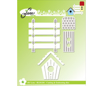 By Lene Birdhouse & Planks Cutting & Embossing Dies (BLD1281)