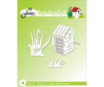 By Lene Birdhouse & Grass Cutting & Embossing Dies (BLD1282)