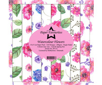 Paper Favourites Watercolour Flowers 6x6 Inch Paper Pack (PF133)