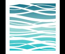 LDRS Creative Ocean Waves 6x6 Inch Stencil (LDRS3220)