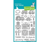 Lawn Fawn Village Heroes Clear Stamps (LF2327)