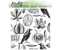 Picket Fence Studios Autumn Harvest Collage Clear Stamps (F-141)