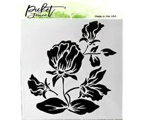 Picket Fence Studios Shading Flower Stencil (SC-189)