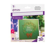 Gemini Rustic Wreath 3D Embossing Folder (GEM-EF6-3D-RW)