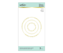Spellbinders Christmas Essential Glimmer Circles Glimmer Hot Foil Plates (GLP-180)