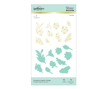 Spellbinders Christmas Organic Foliage Glimmer Hot Foil Plates & Dies (GLP-184)