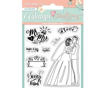 Stamperia Mr & Mrs Clear Stamps (WTKJR25)