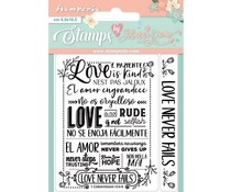 Stamperia Love Never Fails Clear Stamps (WTKJR27)