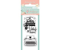 Stamperia Typewriter Clear Stamps (WTKJR28)