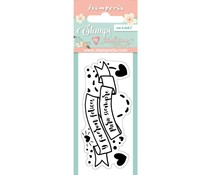 Stamperia Label Clear Stamps (WTKJR29)