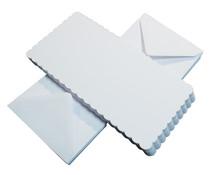 Craft UK Cards & Envelopes 6x6 Inch Scalloped White (CUK836)