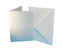 Craft UK Premium Collection Cards & Envelopes A6 White Hammered (CUKW109)