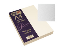 Craft UK Premium Collection A4 White Hammered Paper Pack (CUKW121)