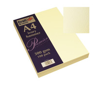 Craft UK Premium Collection A4 Ivory Hammered Paper Pack (CUKW122)