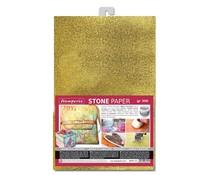 Stamperia Stone Paper A4 Gold (DFPCA4G)