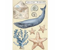 Stamperia Colored Wooden Shapes A5 Arctic World (KLSP077)