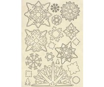 Stamperia Wooden Shapes A5 Snowflakes (KLSP084)