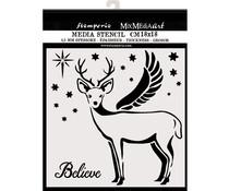 Stamperia Thick Stencil 18x18cm Deer (KSTDQ48)