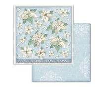 Stamperia Winter Tales Poinsettia 12x12 Inch Paper Sheets (10pcs) (SBB720)