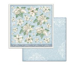 Stamperia Winter Tales Poinsettia 12x12 Inch Paper Sheets (10pcs) (SBB720)