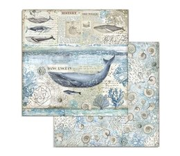 Stamperia Arctic Antarctic Whale 12x12 Inch Paper Sheets (10pcs) (SBB729)