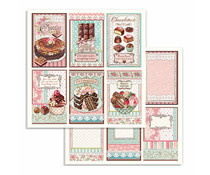 Stamperia Chocolate Cards 12x12 Inch Paper Sheets (10pcs) (SBB738)
