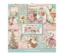 Stamperia Pink Christmas 12x12 Inch Paper Pack (SBBL73)