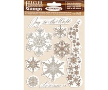 Stamperia Natural Rubber Stamp Snowflakes (WTKCC167)