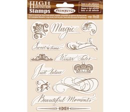 Stamperia Natural Rubber Stamp Beautiful Moments (WTKCC168)