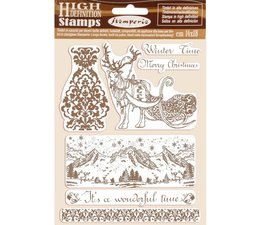 Stamperia Natural Rubber Stamp Winter Time (WTKCC169)