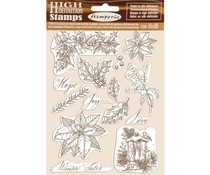 Stamperia Natural Rubber Stamp Poinsettia (WTKCC170)