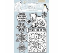 Stamperia Natural Rubber Stamp Arctic Antarctic Moments Full of You (WTKCC179)