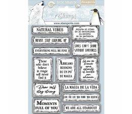 Stamperia Natural Rubber Stamp Arctic Antarctic Quotes (WTKCC180)