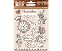Stamperia Natural Rubber Stamp Alice (WTKCC185)
