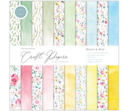 Craft Consortium Essential Craft Papers 12x12 Inch Paper Pad Bloom & Wild (CCEPAD009)