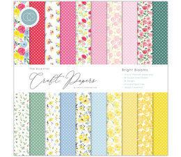 Craft Consortium Essential Craft Papers 12x12 Inch Paper Pad Bright Blooms (CCEPAD010)