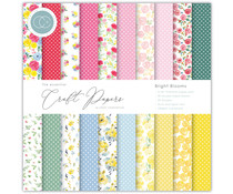Craft Consortium Essential Craft Papers 6x6 Inch Paper Pad Bright Blooms (CCEPAD010B)