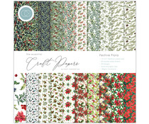 Craft Consortium Essential Craft Papers 12x12 Inch Paper Pad Festive Flora (CCEPAD011)