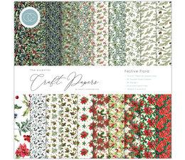 Craft Consortium Essential Craft Papers 12x12 Inch Paper Pad Festive Flora (CCEPAD011)