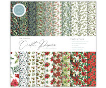 Craft Consortium Essential Craft Papers 6x6 Inch Paper Pad Festive Flora (CCEPAD011B)