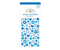 Doodlebug Design Blue Jean Confetti Shape Sprinkles (76pcs) (6709)