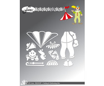 By Lene Clown 1 Cutting & Embossing Dies (BLD1287)