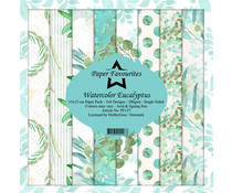 Paper Favourites Watercolor Eucalyptus 6x6 Inch Paper Pack (PF137)