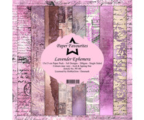 Paper Favourites Lavender Ephemera 6x6 Inch Paper Pack (PF140)