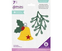 Gemini Festive Bell & Foliage Build Appliqué Multi Media Die (GEM-MMD-BA-FBF)